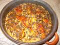 Заешко с ориз и лапад на фурна