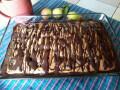 Портокалов кекс с шоколадов топинг