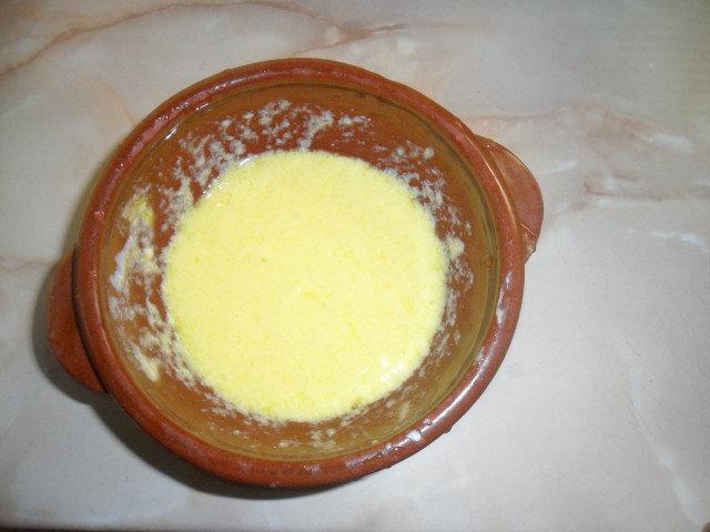 Застройка за пилешка супа с яйце и мляко